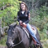 Danielle trail riding