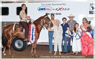 Baby Grand, Shown by: Autumn Larkowski Two Year Old Amateur Breeders Cup Champion