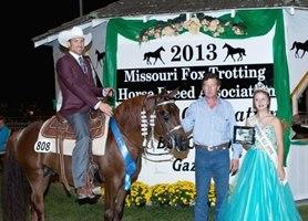 Wild West, Shown by: Jarrod Freeman, 2013 4 Year Old Open World Champion Stallion
