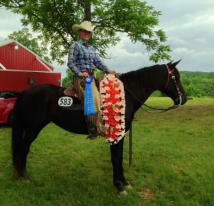 Nichole and Velvet - Champion Open Ranch Horse